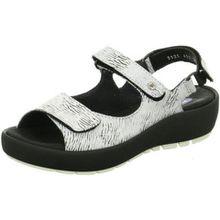 Wolky Damen Sandaletten Rio White-Black Canals 3325711 Weiß 250356
