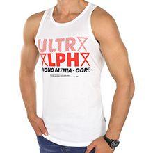 JACK & JONES Tank Top jcoMANNY Herren Shirt Top Print Regular Fit (M, Weiß (White Fit:REG))