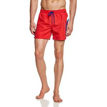 Skiny Herren Badeshorts Basic Instinct Men Hr. Aqua Shorts, Einfarbig, Gr. Small, Rot (RED 1512)
