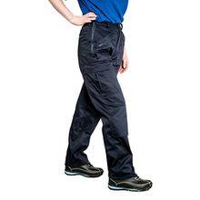 Damen-Arbeitshose/Einsatzhose - Mehrere Taschen Mit Reißverschluss - Kniepolster-Taschen - S687 - 33''-34'' - Groß, marineblau