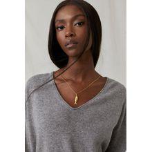 CLOSED Cashmere V-Pullover grey heather melange