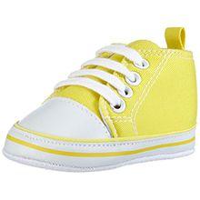 Playshoes Baby Turnschuhe 121535 Unisex-Kinder Sneaker, Gelb (gelb 12), EU 18