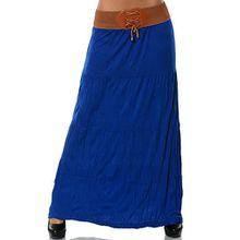 Damen Maxirock (weitere Farben) No 12907, Farbe:Blau, Größe:One Size