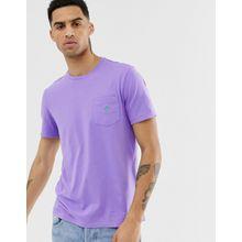 Polo Ralph Lauren - Lila T-Shirt mit Tasche und Polospieler-Logo - Violett