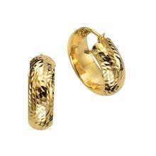 Celesta Gold Creolen 375/- Gelbgold diamantiertOhrringe gelb Damen