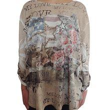 Verschiedene Farben Damen Tuniken Größe 48 50 52 54 56 (Sandfarbe)