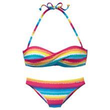 CHIEMSEE Bandeau-Bikini blau / gelb / orange / rot