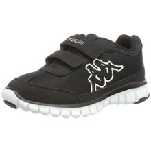 Kappa SYLVESTER II K Footwear Kids, Unisex-Kinder Sneakers, Schwarz (1110 black/white), 32 EU (13 Kinder UK)
