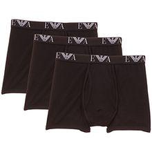 Emporio Armani Herren Boxershorts Mens Knit 3 Pack Boxe, einfarbig, Gr. M, schwarz