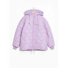 Hooded Puffer Jacket - Purple