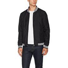 Urban Classics Herren und Jungen Light College Blouson, leichte Jacke für Frühling und Sommer, Übergangsjacke, Collegejacke, schwarz, XL