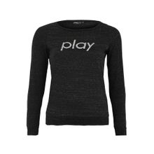 Only Play Curvy Sweatshirt 'onpHANA BOATNECK SWEAT CURVY' schwarz