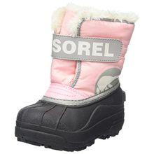 Sorel Childrens Snow Commander Unisex-Kinder Schneestiefel, Pink (Cupid/Dove), 28 EU