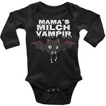 Mikalino Babybody Mamas Milch Vampir langarm, Farbe:rot;Grösse:74