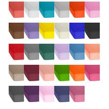 Jersey Baumwolle Spannbetttuch, Spannbettlaken in vielen Farben und allen Größen von 90x200 bis 200-220 auch für Wasserbetten und Boxspring sowie Topper Spannbettlaken - Jersey Spannbettlaken 140x200 bis 160x200 cm - Schokobraun