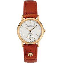 Bruno Söhnle Uhr 'Pisa 17-33035-241' cognac / gold / weiß