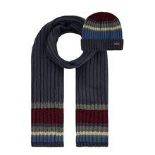 Schal und Mütze aus Baumwollmischung