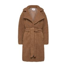 NA-KD Teddy-Mantel 'midi teddy coat' braun