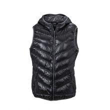 James & Nicholson Damen Jacke Weste Ladies' Vest schwarz (black/grey) Medium
