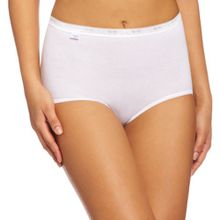 Sloggi Damen Taillenslip 3er Pack, Weiß, Gr. 46 EU (Herstellergröße:48)