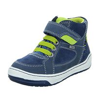 Lurchi Barney-TEX Kinder Stiefel Klettverschluss Leder Blau (Petrol Neon Apple), Größe 25