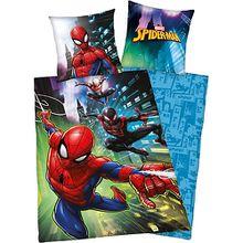 Wende- Kinderbettwäsche Spider-Man, Renforcé, 135 x 200 cm