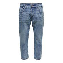 Only & Sons Avi Beam Crop Washed Slim Fit Jeans blue denim