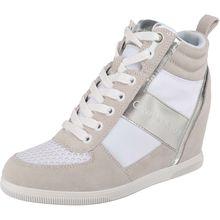 CALVIN KLEIN JEANS BETH SUEDE/NYLON/METAL SMOOTH Sneakers High silber/weiß Damen
