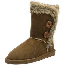 Canadians Damen Boots Schlupfstiefel, Braun (370 Tobacco), 40 EU