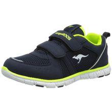 KangaROOS Nara, Unisex-Kinder Sneakers, Blau (dk navy/lime 481), 28 EU