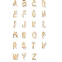 Alison Lou - Letter Ohrring Aus 14 Karat Gold - E