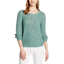 ONLY Damen Pullover 15113356, Blau (Oil Blue), 34 (Herstellergröße: XS)