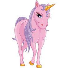 Wandtattoo Einhorn, rosa