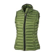 James & Nicholson Damen Jacke Weste Ladies Quilted Vest rot (Jungle Green/Black) XX-Large