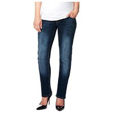 Noppies Damen Straight Leg Umstands Jeans OTB comf Lois PLUS, Gr. 54 (Herstellergröße: 42), Blau (Stone Wash C295)