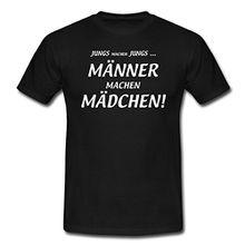 Spreadshirt Männer Machen Mädchen Lustiger Spruch Männer T-Shirt, L, Schwarz