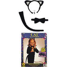 Kostümzubehör Kätzchen-Set, 3-tlg. Mädchen Kinder