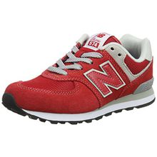 New Balance Pc574v1, Unisex-Kinder Sneaker, Rot (Red/Grey), 33.5 EU (1.5 UK)