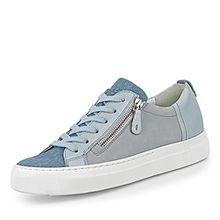 Paul Green 4512-222 Damen Sneaker aus Veloursleder Lederfutter und -Innensohle, Groesse 7 1/2, Hellblau