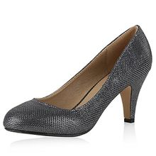 napoli-fashion Klassische Damen Pumps Strass Glitzer Party Metallic Stilettos Hochzeit Abendschuhe Damen Pumps Grau Metallic 37 Jennika