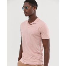 Selected Homme - Polohemd aus Bio-Baumwolle in Rosa mit Reverskragen - Rosa
