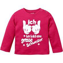 EZYshirt® Ich bin bald eine grosse Schwester Baby T-Shirt Longsleeve