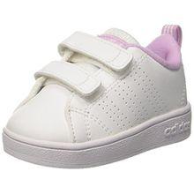 adidas Unisex-Kinder Vs Advantage Clean Sneakers, Weiß (Ftwwht/Ftwwht/Lgtorc), 27 EU