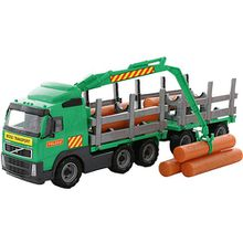 VOLVO Truck Holzfrachter mit Anhänger