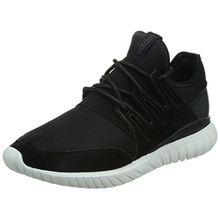 adidas Unisex-Erwachsene Tubular Radial Hohe Sneakers, Schwarz (Core Black/Core Black/Crystal White), 43 1/3