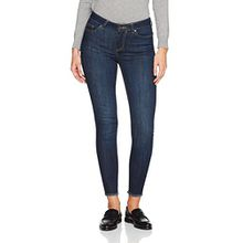 PIECES Damen PCFIVE DELLY B157 MW SKN CR D IND/NOOS Skinny Jeans, per pack Blau (Dark Blue Denim Dark Blue Denim), 38 (Herstellergröße: M)