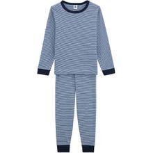 Petit Bateau zweiteiliger Schlafanzug - blaue Ringel