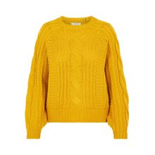 PIECES Pullover 'Pchable' goldgelb