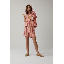 CLOSED Lexi Shorts Striped Cotton Mix camellia