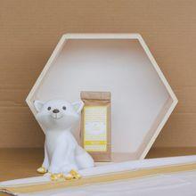 Fuchs-Leuchte farbig weiß